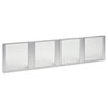 ALEVA301730 Glass Door Set With Silver Frame For 72