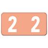 SMD67472 ETNS Color-Coded Labels, Number 2, 1/2 x 1, Pink, 250 Labels/Pack SMD 67472