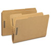 SMD19887 11 Point Kraft Folders, Two Fasteners, 2/5 Cut Right Tab, Legal, Brown, 50/Box SMD 19887