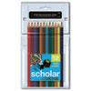 SAN92804 Scholar Colored Woodcase Pencils, 12 Assorted Colors/Set SAN 92804