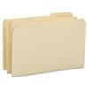 SMD15434 File Folders, 1/3 Cut Reinforced Tab, Legal, Manila, 100/Box SMD 15434