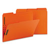 SMD12540 Folders, Two Fasteners, 1/3 Cut Assorted Top Tabs, Letter, Orange, 50/Box SMD 12540