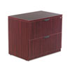ALEVA513622MY Valencia Series Two-Drawer Lateral File, 34w x 22 3/4d x 29 1/2h, Mahogany ALE VA513622MY