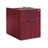 3/4 Box/File Pedestal with unfinished top and not freestanding.