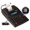 VCT12807 1280-7 Two-Color Printing Calculator w/USB, 12-Digit Fluorescent, Black/Red VCT 12807