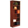 ALEVA638232MC Valencia Series Bookcase, 6 Shelves, 31-3/4w x 12-1/2d x 80-3/8h, Medium Cherry ALE VA638232MC