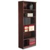 ALEVA638232MY Valencia Series Bookcase, 6 Shelves, 31-3/4w x 12-1/2d x 80-3/8h, Mahogany ALE VA638232MY