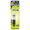 ZEB54012 M-301 Mechanical Pencil, 0.5 mm, Stainless Steel w/Black Accents Barrel, 2/Pk ZEB 54012
