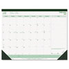 REDC177437 EcoLogix Monthly Desk Pad Calendar, 21-3/4 x 17, 2013 RED C177437