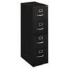 BSXH414PP H410 Series Four-Drawer Locking Vertical File, 15w x 22d x 48-3/4h, Black BSX H414PP