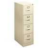 BSXH414PL H410 Series Four-Drawer Locking Vertical File, 15w x 22d x 48-3/4h, Putty BSX H414PL