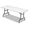 ALE65600 Resin Rectangular Folding Table, Square Edge, 72w x 30d x 29h, Platinum ALE 65600