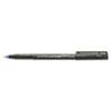 SAN60041 Onyx Roller Ball Stick Dye-Based Pen, Blue Ink, Micro, Dozen SAN 60041