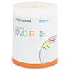 MEM05642 Inkjet Printable DVD-R Discs, 4.7GB, 16x, Spindle, Silver, 100/Pack MEM 05642