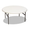 ICE65263 IndestrucTable TOO 1200 Series Resin Folding Table, 60 dia x 29h, Platinum ICE 65263