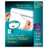 AVE11491 Index Maker with Big Tab, 11x8-1/2, 8-Tab, White AVE 11491