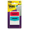 MMM686MONTH Preprinted File Tabs, 1 3/4 x 1 1/2, Jan.-Dec., 28/Pack MMM 686MONTH