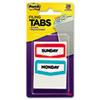 MMM686DAYS Preprinted File Tabs, 1 3/4 x 1 1/2, Mon.-Sun., 28/Pack MMM 686DAYS
