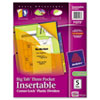 AVE11273 Insertable Three-Pocket Divider with Corner Lock, 11x8-1/2, 5-Tab, Assorted AVE 11273