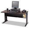 SAF1931 Computer Desk W/ Reversible Top, 48w x 28d x 30h, Mahogany/Medium Oak/Black SAF 1931