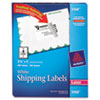 AVE5168 Shipping Labels with TrueBlock Technology, 3-1/2 x 5, White, 400/Box AVE 5168