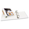 AVE17145 Antimicrobial View Binder w/One-Touch EZD Rings, 4