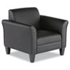 ALERL23LS10B Reception Lounge Series Club Chair, Black/Black Leather ALE RL23LS10B