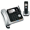 Two-line DECT 6.0 cordless phone system with Bluetooth® compatibility.