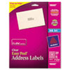 AVE18660 Easy Peel Inkjet Mailing Labels, 1 x 2-5/8, Clear, 300/Pack AVE 18660