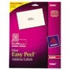 AVE15660 Easy Peel Laser Mailing Labels, 1 x 2-5/8, Clear, 300/Pack AVE 15660