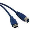 TRPU322010 USB 3.0 Device Cable, A/B, 10 ft., Blue TRP U322010