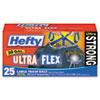 PCTE80625 Ultra Flex Waste Bags, 30 Gallon, 30 x 33, 1.3 mil, Black, 25/Box PCT E80625