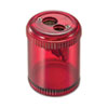 OIC30240 Pencil/Crayon Sharpener, Twin, Red OIC 30240