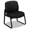 HON3506NT10T 3500 Series Armless Guest Chair, Black Frame/Black NT Tectonic Polyester HON 3506NT10T