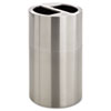 SAF9931SS Dual Recycling Receptacle, 30 gal, Stainless Steel SAF 9931SS
