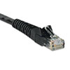 TRPN201025BK CAT6 Snagless Patch Cable, 25 ft, Black TRP N201025BK