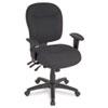ALEWR42FB10B Wrigley Series Mid-Back Multifunction Chair, Black, Adjustable Arms ALE WR42FB10B