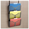Universal Recycled Plastic Cubicle Triple File Pocket