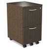 ALESE521620ES SedinaAG Series Mobile File/File Pedestal, 15-3/8w x 20d x 27-1/2h, Espresso ALE SE521620ES