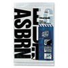 CHA01175 Press-On Vinyl Uppercase Letters, Self Adhesive, Black, 4