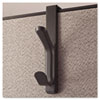UNV08607 Recycled Cubicle Double Coat Hook, Plastic, Charcoal UNV 08607