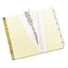 AVE11730 Gold Line Data Binder Insertable Tab Index, 6-Tab, 9-1/2 x 11, Buff, 6/Set AVE 11730