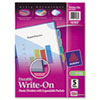 AVE16177 Translucent Multicolor Write-On Dividers with Pocket, 8-Tab, Letter, 1 Set AVE 16177