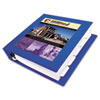 AVE68039 Framed View Binder With One Touch Locking EZD Rings, 3