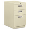 Mobile pedestal with box/box/file drawers and recessed pulls.