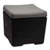 ICE64531 Otto File Ottoman, 18w x 18d x 17-1/4h, Charcoal/Black ICE 64531