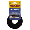 VEK91141 Reusable Self-Gripping Cable Ties, 1/2 x 8 inches, Black, 25 Ties/Pack VEK 91141