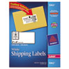 AVE5963 Shipping Labels with TrueBlock Technology, 2 x 4, White, 2500/Box AVE 5963