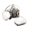 MMM6211PA1A Half Facepiece Paint Spray/Pesticide Respirator, Medium MMM 6211PA1A