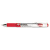 UNV39314 High Capacity Roller Ball Stick Gel Pen, Red Ink, Medium 0.7mm, Dozen UNV 39314